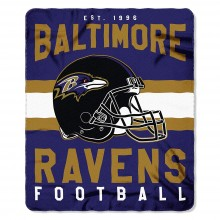 "Baltimore Ravens 50"" x 60"" Singular Fleece Throw Blanket"