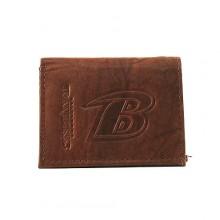 Baltimore Ravens Brown Leather Wallet