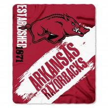Arkansas Razorbacks Established  Fleece Throw Blanket
