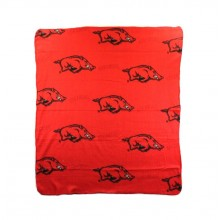 Arkansas Razorbacks 3 Bar Repeater Fleece Throw Blanket