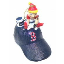 Boston Red Sox Elf Painting Ornament