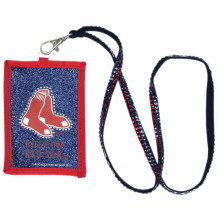 Boston Red Sox Beaded Lanyard I.D. Wallet