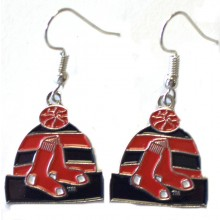 Boston Red Sox Beanie Dangle Earrings