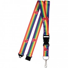 Boston Red Sox Breakaway Rainbow Lanyard Keychain
