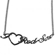 Boston Red Sox Heart Script Necklace