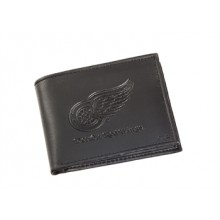 Detroit Red Wings  Black Leather Bi-Fold Wallet