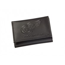 Detroit Red Wings  Black Leather Tri-Fold Wallet
