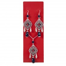 Boston Red Sox Baroque Necklace and Earring Set