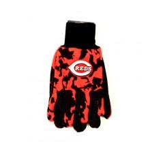 MLB Cincinnati Reds Team Color Camo Utility Gloves