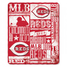 "Cincinnati Reds 50"" x 60"" Established Fleece Throw Blanket"