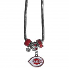 Cincinnati Reds Euro Bead Charm Necklace