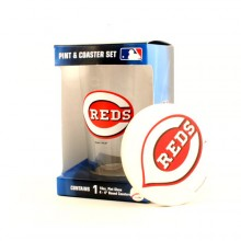 Cincinnati Reds Pint and Coaster Set