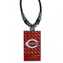 Cincinnati Reds Diamond Plate Rope Necklace, 20-Inch