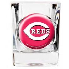 Cincinnati Reds Square 2 oz Logo Shot Glass