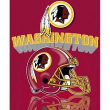 """Washington Redskins 50"""" x 60"""" Gridiron Fleece Throw Blanket"""