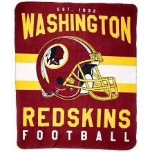 "Washington Redskins 50"" x 60"" Singular Fleece Throw Blanket"
