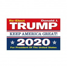 Re-Elect Trump Keep America Great!  2020 Flag With Grommets 3' X 5'
