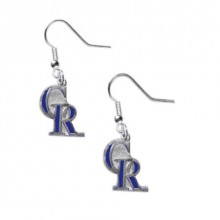 Colorado Rockies Logo Dangle Earrings