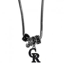 Colorado Rockies Euro Bead Charm Necklace