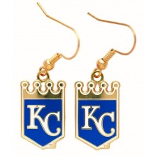 Kansas City Royals Crown Logo Dangle Earrings