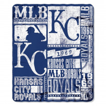 "Kansas City Royals 50"" x 60"" Established Fleece Throw Blanket"