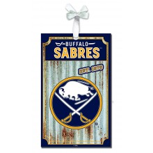 Buffalo Sabres Corrugated Metal Sign Ornament