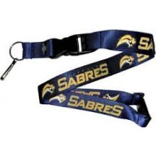 NHL Buffalo Sabres Team Color Breakaway Lanyard Key Chain