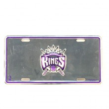 NBA Sacramento Kings Embossed Aluminum Automotive Novelty License Plate Tag Sign