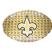"New Orleans Saints 3-D 9"" X 6"" Oval Ultradepth Hologram Magnet"