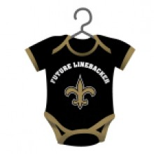 New Orleans Saints Baby Bodysuit Ornament