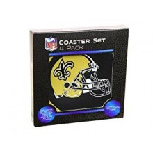 New Orleans Saints 4 pack Flexible Coaster Set