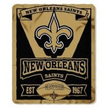 "New Orleans Saints 50"" x 60"" Gridiron Fleece Throw Blanket"