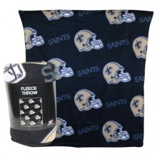 "New Orleans Saints 50"" x 60"" Repeating Pattern Fleece Throw Blanket"