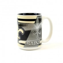 New Orleans Saints 15oz Shadow Ceramic Mug