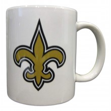 New Orleans Saints 11 oz White Ceramic Mug