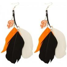 San Francisco Giants Fan Feathers Earrings