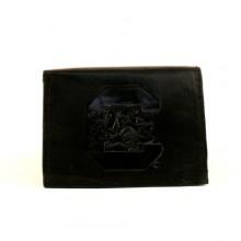 South Carolina Gamecocks Black Leather Wallet