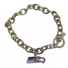 NFL Officially Licensed Seattle Seahawks Charm Bracelet