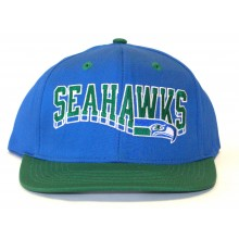 Seattle Seahawks  Blue and Green Flatbill Embroidered Headwear