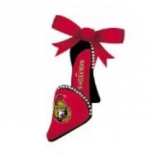 Ottawa Senators Team High Heel Shoe Ornament