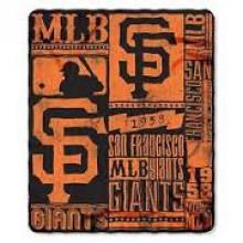 """San Francisco Giants 50"""" x 60"""" Established Fleece Throw Blanket"""