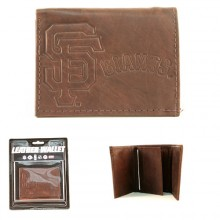 San Francisco Giants Brown Tri-Fold Leather Wallet