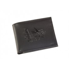 San Jose Sharks  Black Leather Bi-Fold Wallet