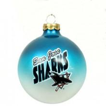 San Jose Sharks Glass Ball Ornament