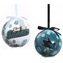 San Jose Sharks LED Ball Ornaments Set of 2