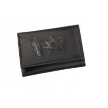 San Jose Sharks  Black Leather Tri-Fold Wallet