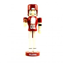 "Oklahoma Sooners 12"" Wooden Nutcracker"