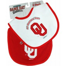 Oklahoma Sooners 2 Pack Game Day Bib Set
