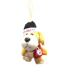 Oklahoma Sooners 4 inch Plush Dog Ornament