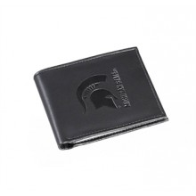 Michigan State Spartans Bi-Fold Black Leather Wallet